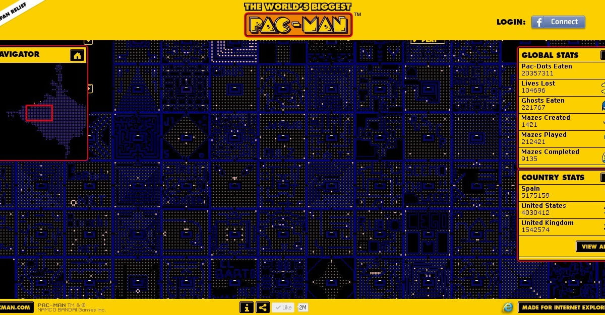 The World's Biggest Pac-Man includes user-created levels ...