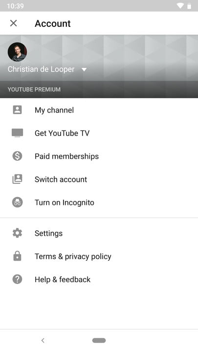 how to turn on youtube incognito mode 2