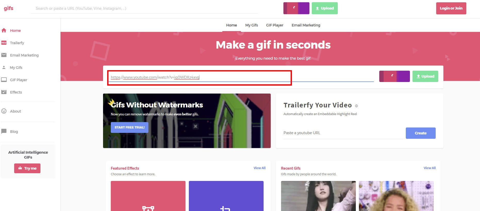 How to make a gif from a youtube video digital trends turn youtube video gif youtubegif02 sciox Gallery